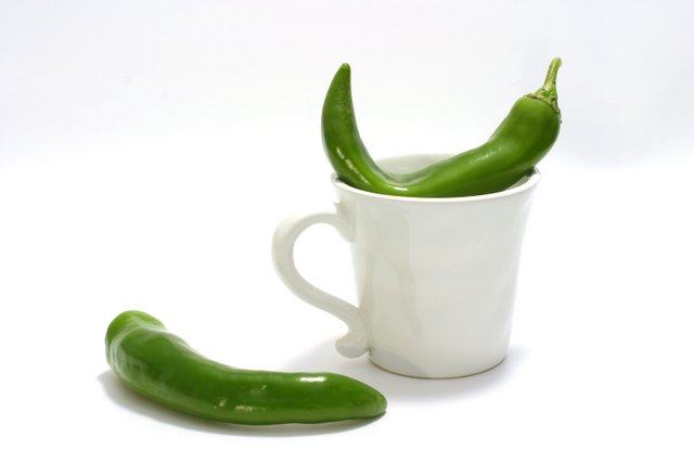 Jalapeno pepper with cup